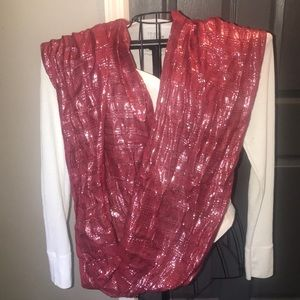 Accessories - Red and silver sparkle scarf